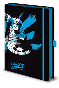 Notitieschrift Marvel Retro - Captain America Mono Premium