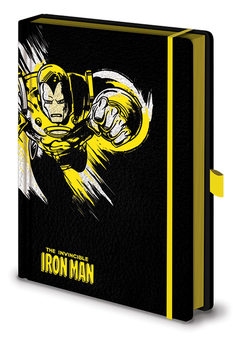 Notitieschrift Marvel Retro - Iron Man Mono Premium