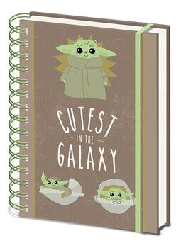 Notitieschrift Star Wars: The Mandalorian - Cutest In The Galaxy