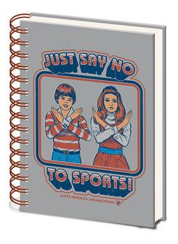 Notitieschrift Steven Rhodes - Say No to Sports