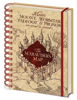 Notizbücher Harry Potter - The Marauders Map