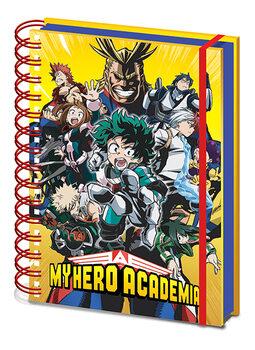 Notizbücher My Hero Academia - Radial Character Burst