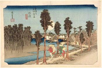 Numazu - Twilight, from the series, '53 Stations on the Eastern Coast Road', 1833 Reproduction d'art