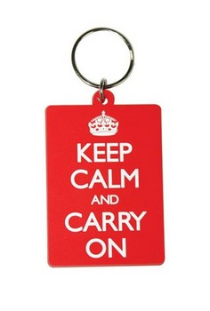 KEEP CALM & CARRY ON Nyckelringar