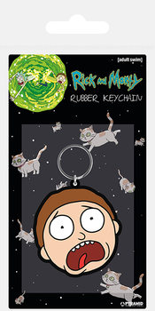 Rick and Morty - Morty Terrified Face Obesek za ključe