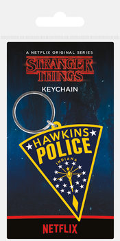 Stranger Things - Hawkins Police Patch Obesek za ključe