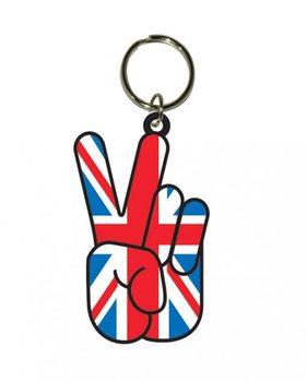 Union Jack Peace Obesek za ključe