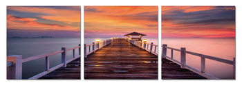 Alpenglow over pier Obraz