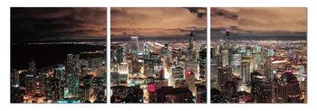 City at dusk Obraz
