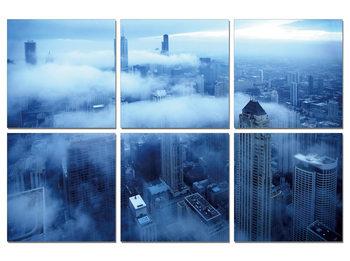 City in the clouds Obraz