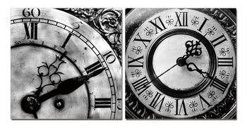Designer clocks (B&W) Obraz