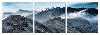 Morning misty mountains Obraz