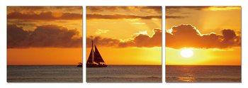 Sunset over the sea Obraz