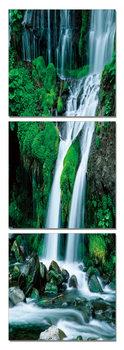 Waterfall in countryside Obraz