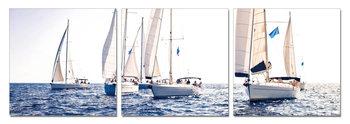 Yacht at sea Obraz