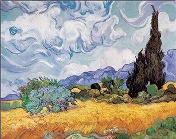 A Wheatfield with Cypresses, 1889, Obrazová reprodukcia