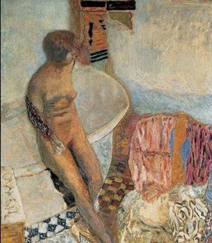 Reprodukce Akt ženy opírající se o vanu, 1931 - Pierre Bonnard