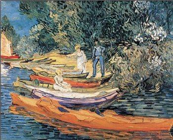 Reprodukce Břeh řeky Oisy v Auvers, 1890
