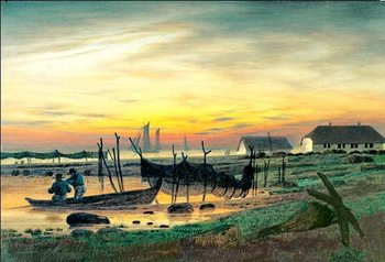 Coastal Landscape in Twilight, 1818, Obrazová reprodukcia