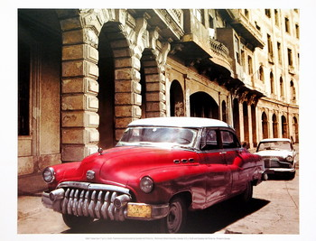 Reprodukce Cuban Cars I