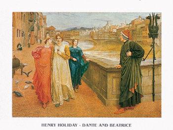 Reprodukce Dante a Beatrice