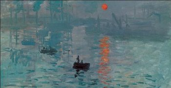 Reprodukce Imprese, východ slunce - Impression, soleil levant, 1872 (část)