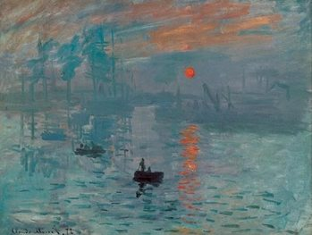 Reprodukce Imprese, východ slunce - Impression, soleil levant, 1872