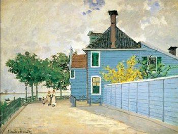 Reprodukce Monet -Modrý dům, Zaandam