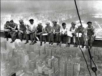New York - Lunch on a skyscraper, Obrazová reprodukcia