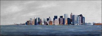 Reprodukce Pohled z lodi na Manhattan
