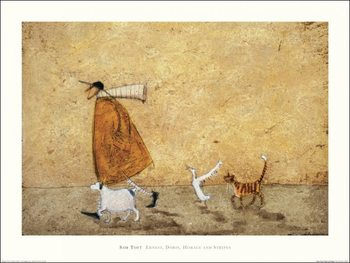 Reprodukce Sam Toft - Ernest, Doris, Horace And Stripes