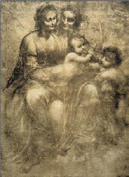 Reprodukce Svatá Anna s Pannou Marií, Kristem a Janem Křtitelem