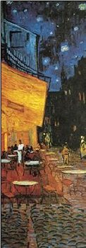 Reprodukce Terasa kavárny v noci, 1888 - Café Terrace at Night (část)