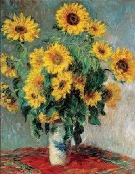 Reprodukce Zátiší se slunečnicemi - Slunečnice, 1880-81