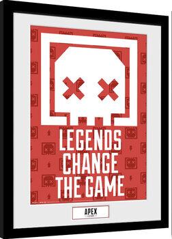 Zarámovaný plagát Apex Legends - Legends Change The Game