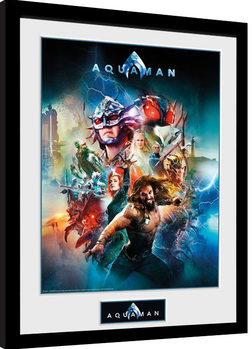 Zarámovaný plagát Aquaman - Collage