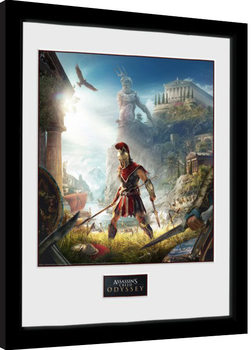 Zarámovaný plagát Assassins Creed Odyssey - Key Art