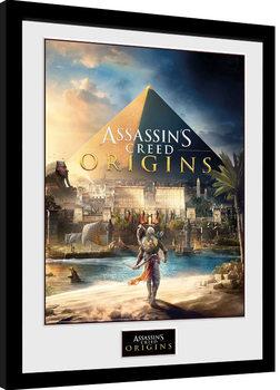 Zarámovaný plagát Assassins Creed: Origins - Cover