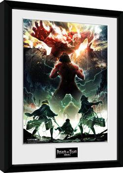 Zarámovaný plagát Attack On Titan Season 2 - Key Art