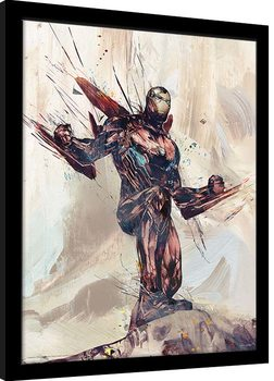 Zarámovaný plagát Avengers: Infinity War - Iron Man Sketch