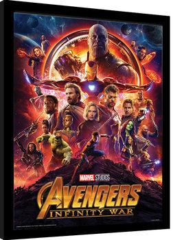 Zarámovaný plagát Avengers: Infinity War - One Sheet