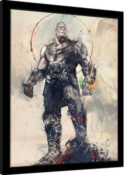 Zarámovaný plagát Avengers: Infinity War - Thanos Sketch
