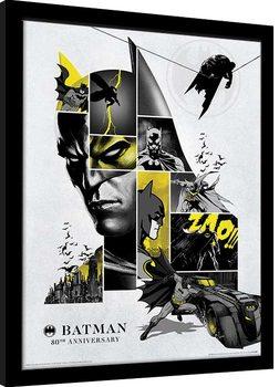 Zarámovaný plagát Batman - 80th Anniversary