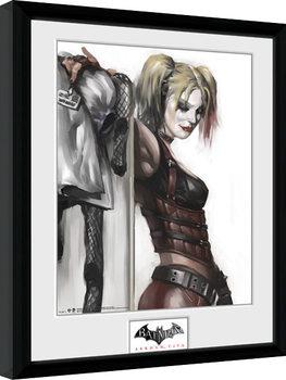 Zarámovaný plagát Batman: Arkham City - Harley Quinn