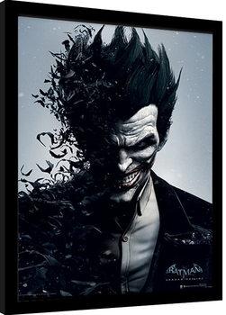 Zarámovaný plagát Batman: Arkham Origins - Joker