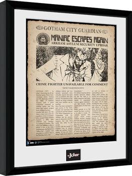 Zarámovaný plagát Batman Comic - Joker Escpaes