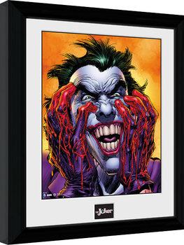 Zarámovaný plagát Batman Comic - Joker Laugh