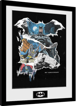 Zarámovaný plagát Batman - Comic Rip
