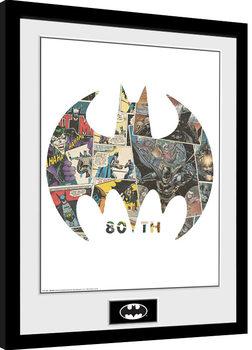 Zarámovaný plagát Batman - Comic Symbol