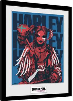 Zarámovaný plagát Birds Of Prey: Podivuhodná premena Harley Quinn - Harley Red